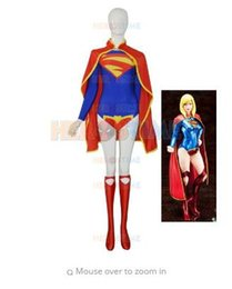 supergirl cosplay costumes NZ - (SUP101)The New 52 Supergirl Kara Female Lycra Spandex Superhero Costum Cosplay Zentai Halloween Party Costume