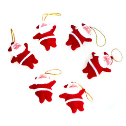 China Small red santa doll pendant Christmas tree decoration plush toy small pendant Christmas supplies cheap latex rubber doll suppliers
