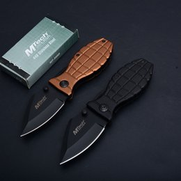 Discount black folding gift boxes - 2Pcs Mtech EDC Pocket Folding Knife 440C Black Blade Aluminum Handle Gift Knives Liner Lock With Original Box Package