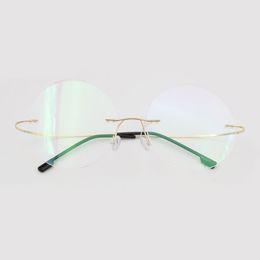 9f56b731fb titanium reading glasses 2018 - Wholesale- Fashion Titanium Rimless  Eyeglasses Frame Brand designer Men Glasses