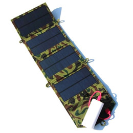 Discount foldable charger 5V 7W Portable Folding Foldable Solar Panel Charger Battery Solar Mobile Phone Cellphone Charger Waterproof Green Free S