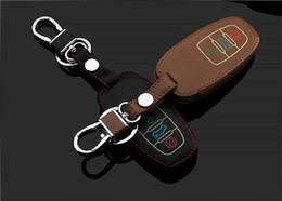 $enCountryForm.capitalKeyWord NZ - LLuminous eather car key chain case for AUDI A1 A3 A4 A5 A6 A8 A7 Q3 Q5 Q7 TT S5 S7 S8