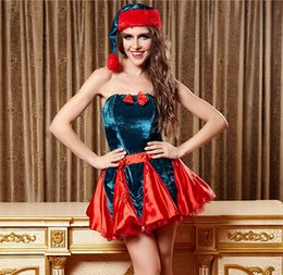 Discount clothes trading - 2016 Christmas Dress Sexy Christmas clothing sexy foreign trade Cosplay festival costumes adult Princess stage suit whol