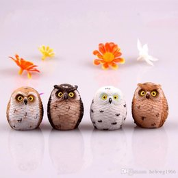 $enCountryForm.capitalKeyWord Canada - Owl Zakka Series Stage Property Mini Resin Accessory Garden Decoration Arts And Crafts Micro Landscape Lovely Hot Sell 1 5zw H R