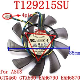 Free Cooling Fan Australia - Wholesale- Free Shipping New original EVERFLOW T129215SU 12V 0.5A 4PIN for ASUS GTX460 GTX560 EAH6790 EAH6870 Cooling fan