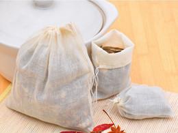 Food soap online shopping - Hot Sale Portable x cm Cotton Muslin Reusable Drawstring Bags Packing Bath Soap Herbs Filter Tea Bags