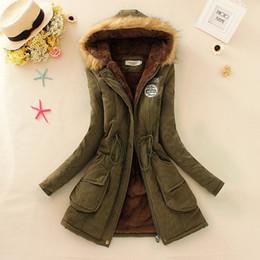 $enCountryForm.capitalKeyWord Canada - Wholesale-2017 New Winter Women Jacket Coat Hooded Fur Collar Parkas Female Thickening Cotton Winter Jacket Womens Outwear Parkas for Female