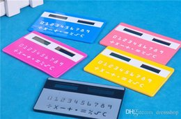 solar battery calculator 2019 - Card Calculator Ultra-thin multi-function calculator solar calculator to calculate the portable computing device cheap s