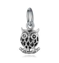 $enCountryForm.capitalKeyWord UK - Fit Pandora Charm Bracelet Night Owl Pendant Dangle European Silver Bead Charms Beads DIY Snake Chain For Women Bangle & Necklace Jewelry