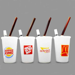 Mcdonald pipe online shopping - Glass bong Dabuccino Rig Jade McDonald BURGER KING Jack in the BOX in n out Cups oil rig Glass Water Pipes Hookahs
