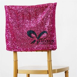 wedding chair cover prices UK - Cheap Price Sequin Chair Cap \ Hood Cover Fit For Chiavari Chair Wedding Party Decoration