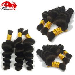 Loose wave human braiding hair online shopping - Human Hair For Micro Braids Brazilian Hair Bulk Braiding Human Braiding Hair Bulk Loose Wave No Weft No Attachment Micro Braiding