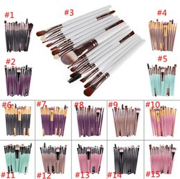 Ensembles De Brosse À Maquillage À Vendre Pas Cher-Hot Sales 15Pcs Set de brosses professionnelles Set Fondue Blusher Powder Ombre à paupières Blending Brosses de maquillage sourcils MR415