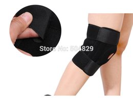 Equipment Accessories Canada - Wholesale- Wholesale Men sport 4 springs Patella Support Strap Brace Pad Knee Protector Sports Equipment Hole Kneepad Safety Guard