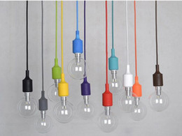$enCountryForm.capitalKeyWord NZ - 110V 220V E27 Lamp Caps Silicone Chandelier Line Edison Bulbs Pendant Lights Lamp Woven Twisted Cables Wire Ball Bubbles Lighting Fixtures