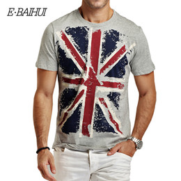 Discount swag clothes wholesale E-BAIHUI Brand Summer Style Cotton Men's Clothing Male T Shirt Man T-shirts Casual T-Shirts Skateboard Swag Tops Te