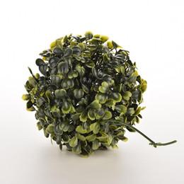 Green Plastic Grass Plant Canada - Wholesale- Dia 12cm Artificial Plastic Green Grass Lantern Ball Decor Plants Party Nice Ornament