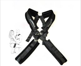 Harnais Sex-male Pas Cher-Sex Swing, Nylon Sexy piggy-back Sexy Nylon corps Swing Deluxe Harness Bondage Kit pour Couple SM et BDSM Flirt, Noir