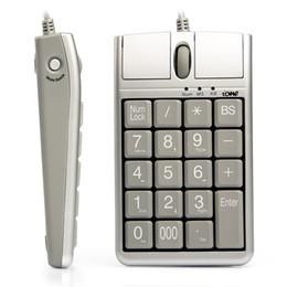 2 en 1 Teclado USB de ratón óptico de Iona Scorpius N4, 19 teclado numérico con Wired 19 con rueda de desplazamiento del mouse para la entrada de datos rápida USB Teclado de teclado Mouse en venta