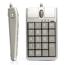 Souris optique iOne Scorpius N4 2 en 1 avec clavier USB filaire 19 clavier numérique avec molette de défilement pour une saisie rapide des données Souris clavier USB en Solde