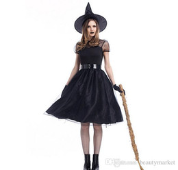 Sexy Adult Woman Costumes Canada - New Fashion Sexy Movie Costume Adult Women Halloween Witch Cosplay Black Mesh Fancy Game Dress Witch Costume PSXY1727