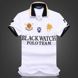 со скидкой рубашки поло Оптовая мужская футболка черный часы POLO TEAM Custom Fit SML XL XXL 2XL