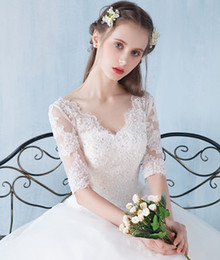 Simple model necklace online shopping - 2017 high quality new pattern sweetheart necklace with sleeves wedding gowns