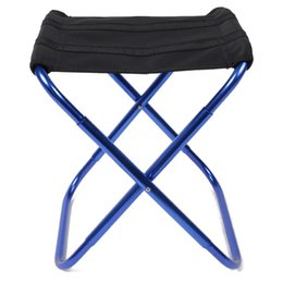 Wholesale Stools Chairs NZ - Wholesale- Portable Folding Chairs Aluminium Alloy Outdoor Picnic Camping Hiking Fishing BBQ Garden Stool Foldable Chair Seat Wholesales