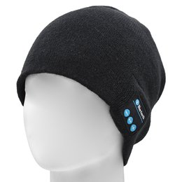 Speakers Red Apple UK - Bluetooth Headset Wireless Bluetooth Hat Music Beanie Hat with Stereo Speaker Headphones Micro Phone Hands Free to Receive Calls Music