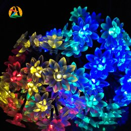 ... 20 Outdoor LED Lotus Flower Solar Fairy String Light For Christmas  Wedding Birthday Party And Events Engagement Decoration Cheap Lotus Outdoor  Lighting