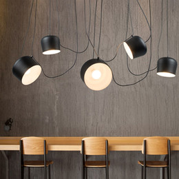 1 2 3 4 5 heads diy drum led pendant lamp for restaurant modern clothing store window industrial pendant light indoor lighting