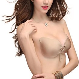 1b20f236af Women Silicone Bra Cups for Backless Dress Butterfly Invisible Push Up Stick  On Self Adhesive Front fly Bra Strapless