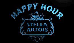 Stella light online shopping - LS1549 r Stella Artois Beer Happy Hour Bar Neon Light Sign jpg