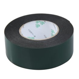 Discount foam tape single sided - Wholesale- 2016 SOSW-Multifunction Black Sponge Foam Double Sided Adhesive Tape (50mm*10m)