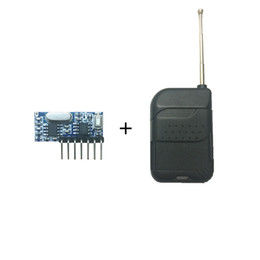 $enCountryForm.capitalKeyWord NZ - Wholesale- 433 Mhz Remote Control and 433Mhz Wireless Receiver Rolling code Decoding RF Module 4Ch output With Learning Button
