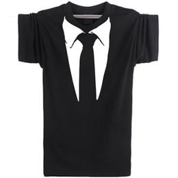 $enCountryForm.capitalKeyWord UK - Business suit T shirt Necktie short sleeve Tie printing casual tees Leisure punk clothing Elastic cotton Tshirt