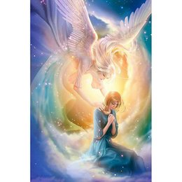 wings art Australia - Angel wings girl DIY Diamond Painting Embroidery 5D Beauty Cross Stitch Crystal Square Unfinish Home Bedroom Wall Art Decor Craft Gift