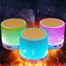 Best Free Audio Player Canada - A9 crackle texture Bluetooth mini Speaker portable led Light speakers mobile phone loudspeaker free player for iphone X 7 plus s8 S9 best