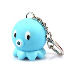 squid gifts 2020 - sound light keychains flashlights sound rings toys cute Squid And Octopus led keychains gift pendant birthday kids gift