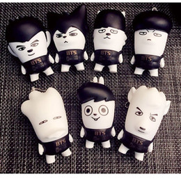 $enCountryForm.capitalKeyWord Canada - BTS Kawaii Keychain JIN J-HOPE JUNGKOOK RAPMONSTER Action Figures Toy Dolls South Korea Cute Puppets Pendant