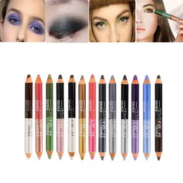 Wholesale Maquillaje Professional Cosmetic Double End Eyeshadow Pen Matte Nude Glitter Eye Shadow Pencil For Women Xmas Gift