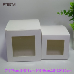 $enCountryForm.capitalKeyWord NZ - 20pcs lot- White Paper Box Window Gift Box for DIY candle toys sample party favor package