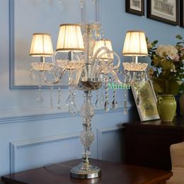 Reading Lighting Switch Candelabra Table Lamp Bedroom Luxury Crystal Table  Lamps Led Table Lamp Dressing Light Hotel Living Room Floor Light