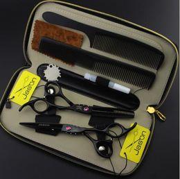 $enCountryForm.capitalKeyWord Canada - 5.5 6 inch black paint Hairdressing scissors sets Flat shear Teeth scissors thinning cutting scissors Hair Products Hair Care Styling Tools