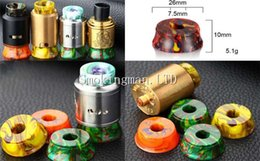 Display stanDs exhibition online shopping - Resin Base RDA RBA Tank Clearomizer Atomizer Stand Resin Thread Metal Holder Exhibition Display for Vape Mod Drip Tip E cig