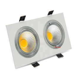 Aluminum recessed ceiling lights online shopping - Double Heads Led Downlights W W Dimmable Led Recessed Ceiling Down Lights COB Led Lights AC V Drivers