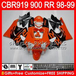 $enCountryForm.capitalKeyWord Canada - Body For HONDA CBR 919RR CBR900RR CBR919RR 98 99 CBR 900RR Orange black 68HM3 CBR919 RR CBR900 RR CBR 919 RR 1998 1999 Fairing kit 8Gifts
