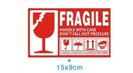 Chinese  Wholesale- 500pcs FRAGILE KEEP DRY UPWARD DO NOT TRAMPLE stickers label for care handle label packing caution stickers 9x15cm manufacturers