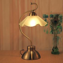 2017 Retro Style Table Lamps European White Glass Retro Style Table Lamps  Vintage Elegant Bedside Desk
