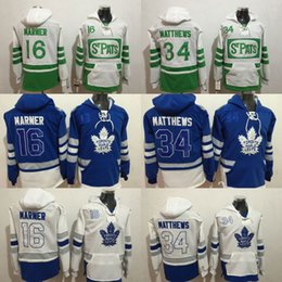 525ce8560f7 Toronto Maple Leafs hoodie 34 Auston Matthews 16 Mitch Marner 29 William  Nylander Blue 100th 2017 Centennial Classic hockey Jersey stitched